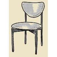 butterfly back mid century dining chair