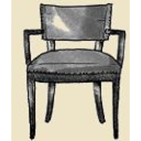 curved half back dining chair