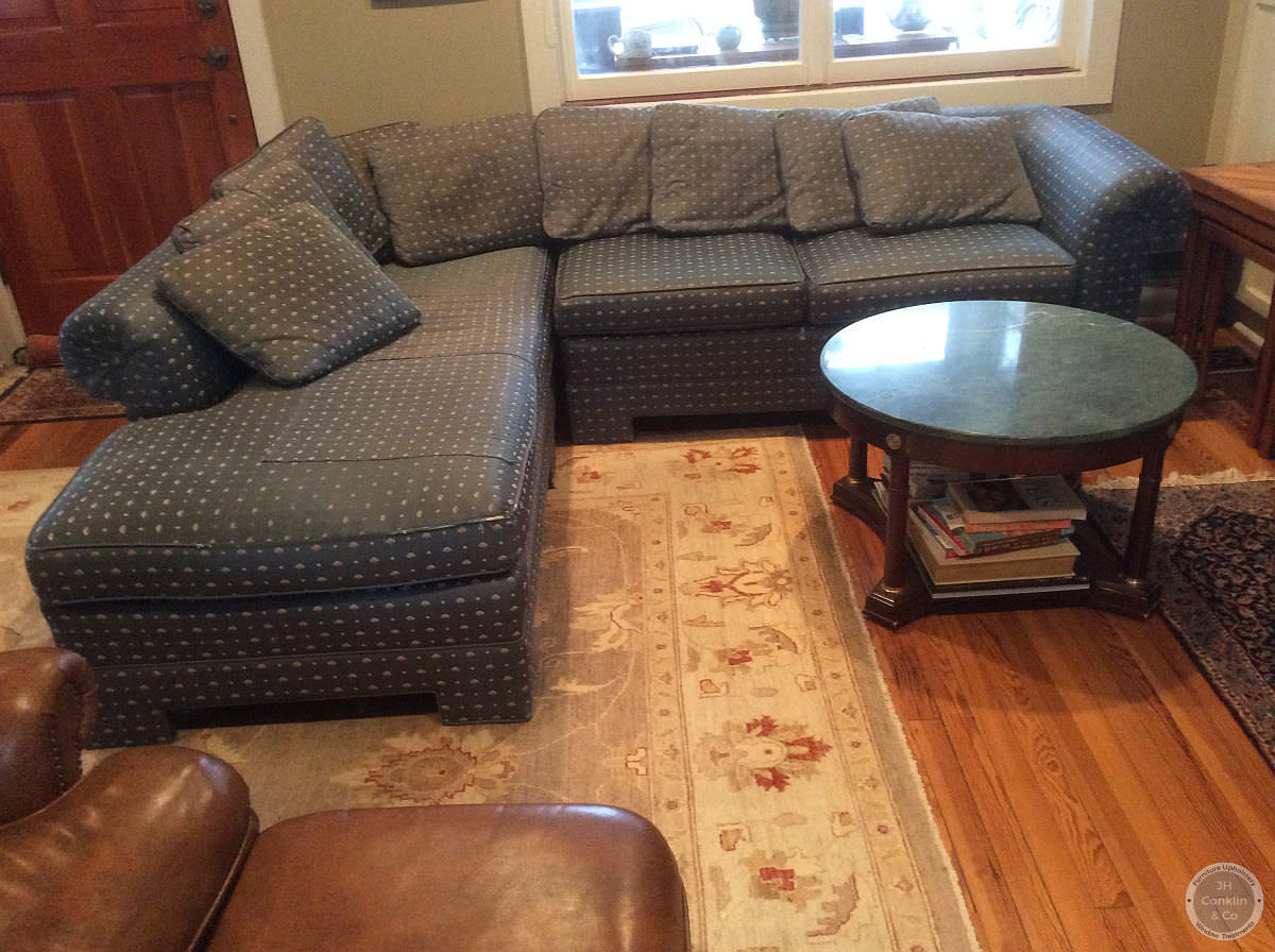 chaise sectional sofa before recovering wenonah NJ