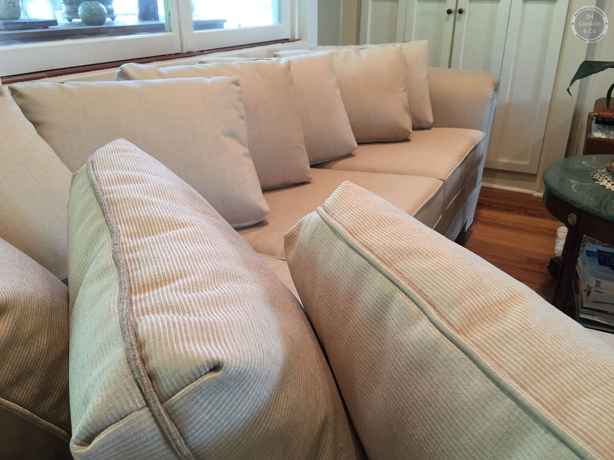 recovered sectional sofa close up new jersey
