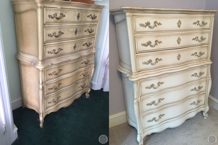 chest of drawers refinished with colored lacquer philadelphia