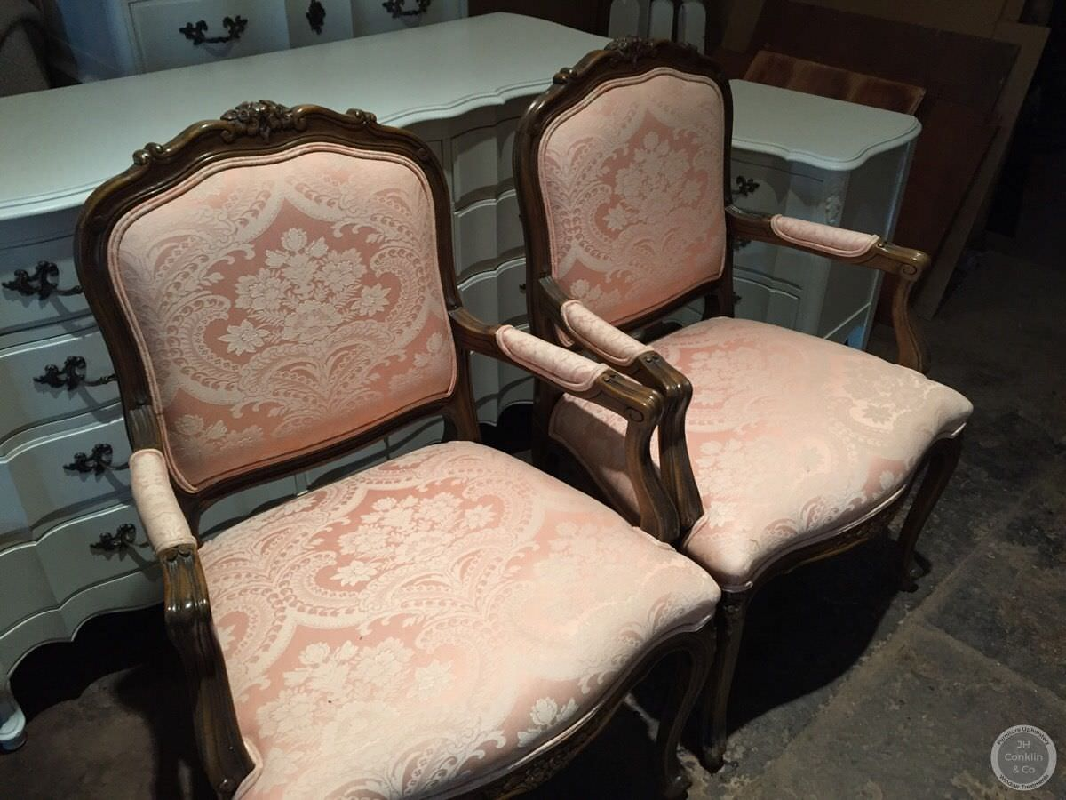French arm chairs Glassboro NJ before upholstery