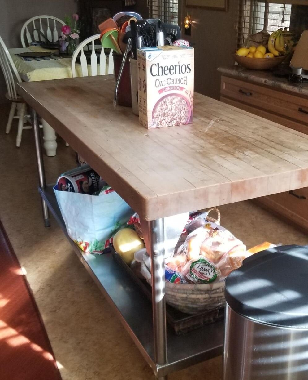 Butcher Block Table Makeover New Jersey