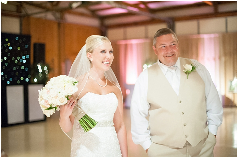 I love this shot  Britt  got of Ashley and her dad right before they came down the isle.