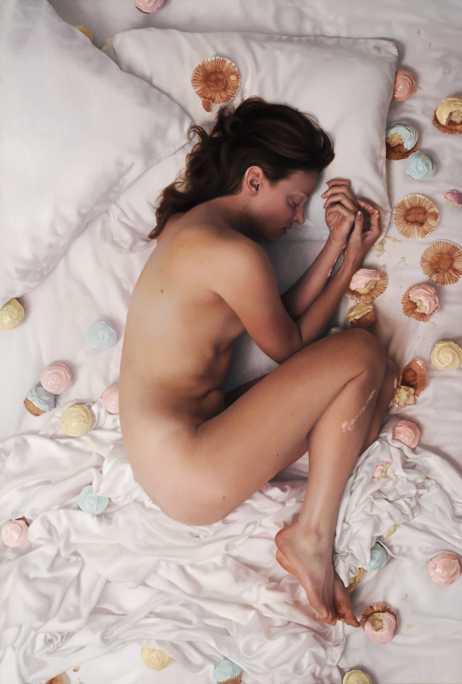 """Asleep,  2008  Oil on Linen  56"""" x 38"""""""