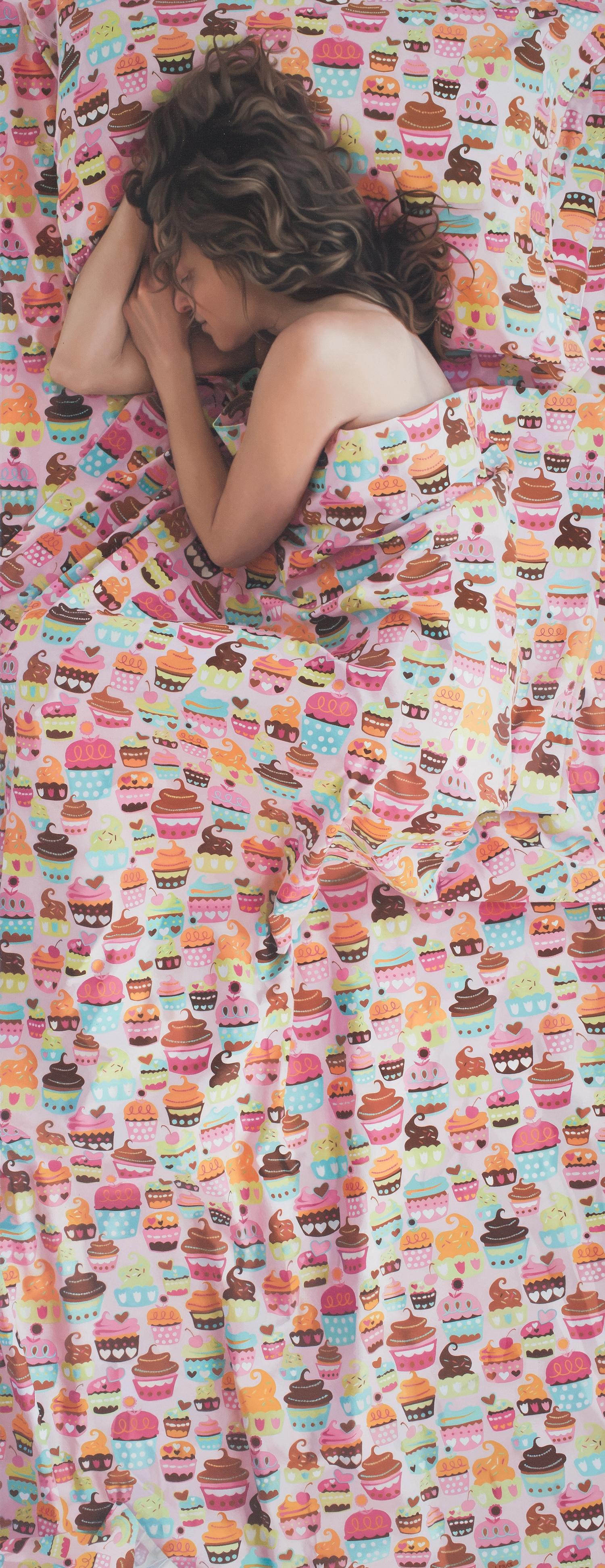 "Cupcakes  , 2013  Oil on Linen  65"" x25"""