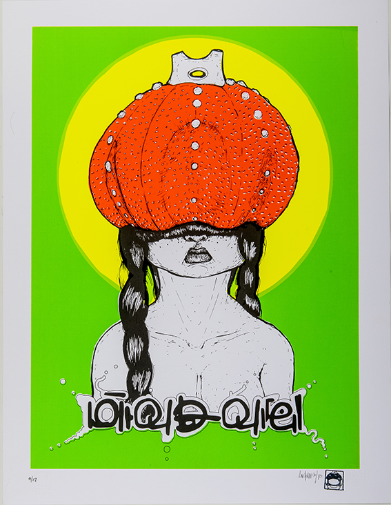 Mrs. Cactus, Serigrafia en papel artistico, edicion limitada, Taller Cono Norte. 65x50 cms