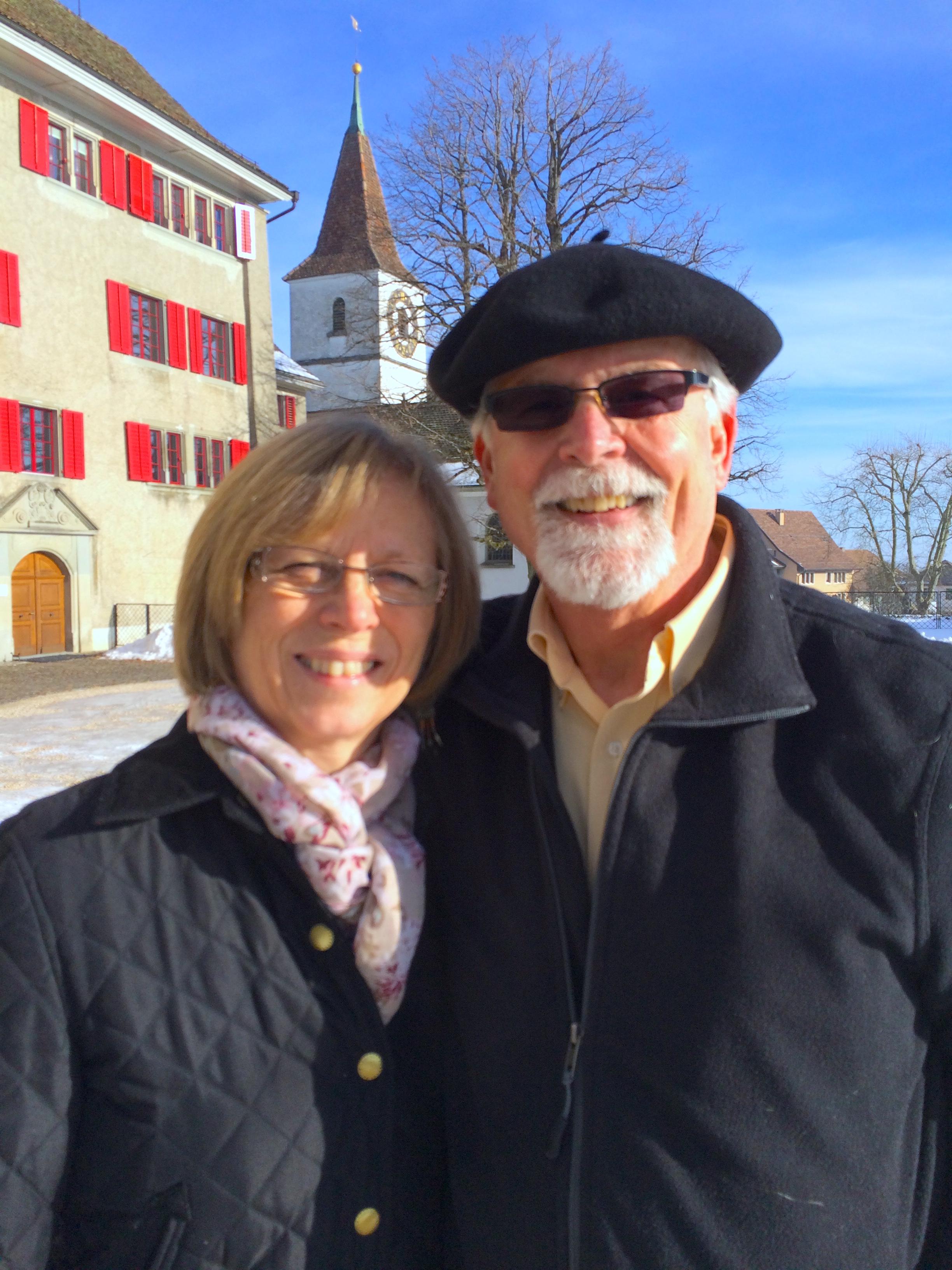 Esther and I at Regensburg near Dielsdorf, Zürich, Switzerland.
