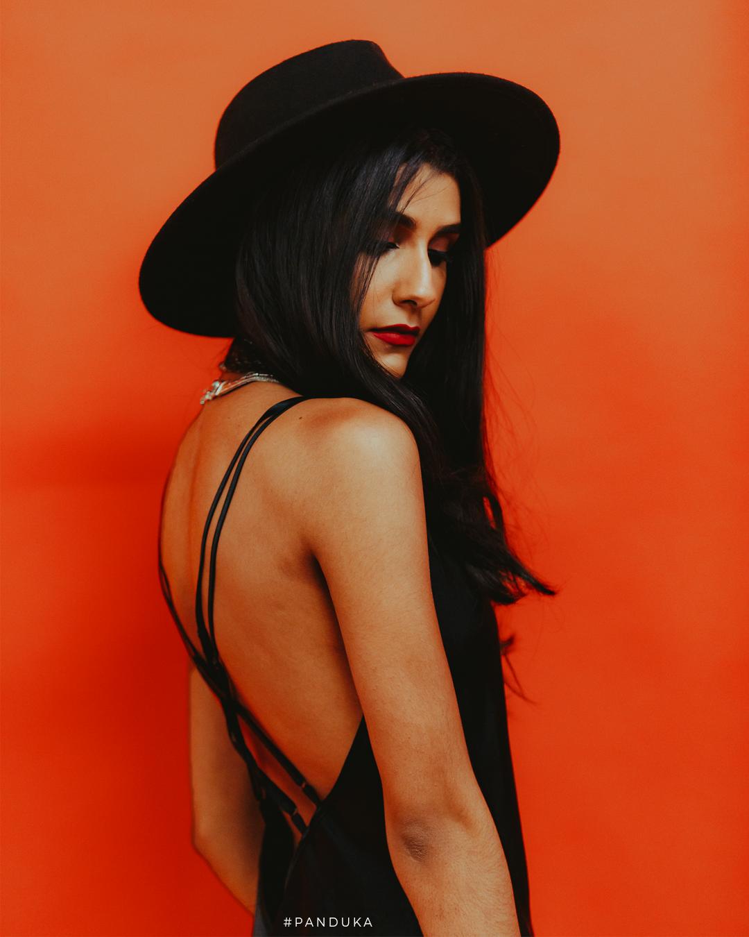 Model On Orange Background 2