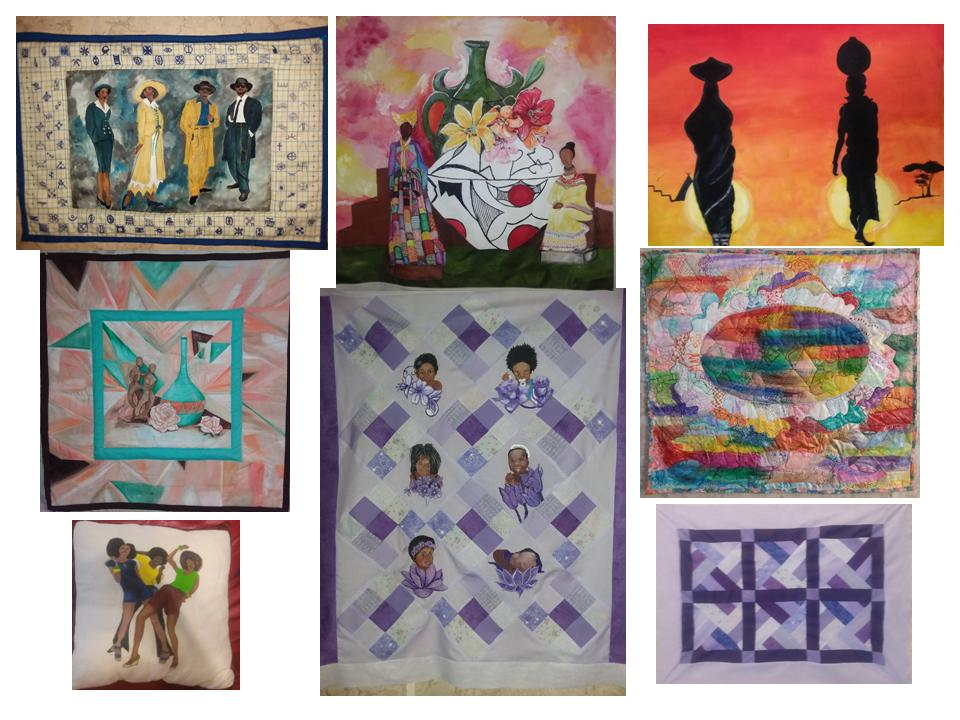 Collage of 8 picture quilts