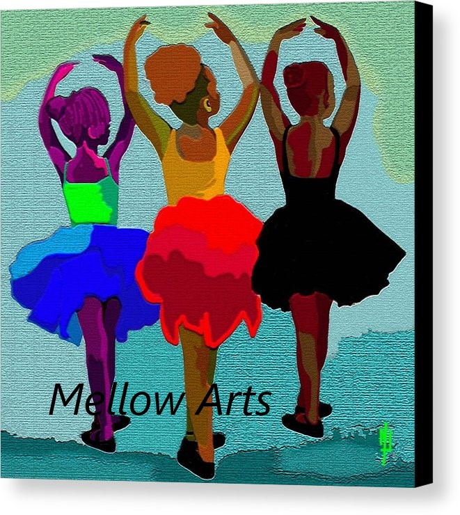 digital art of African American ballerinas by Mellow Arts