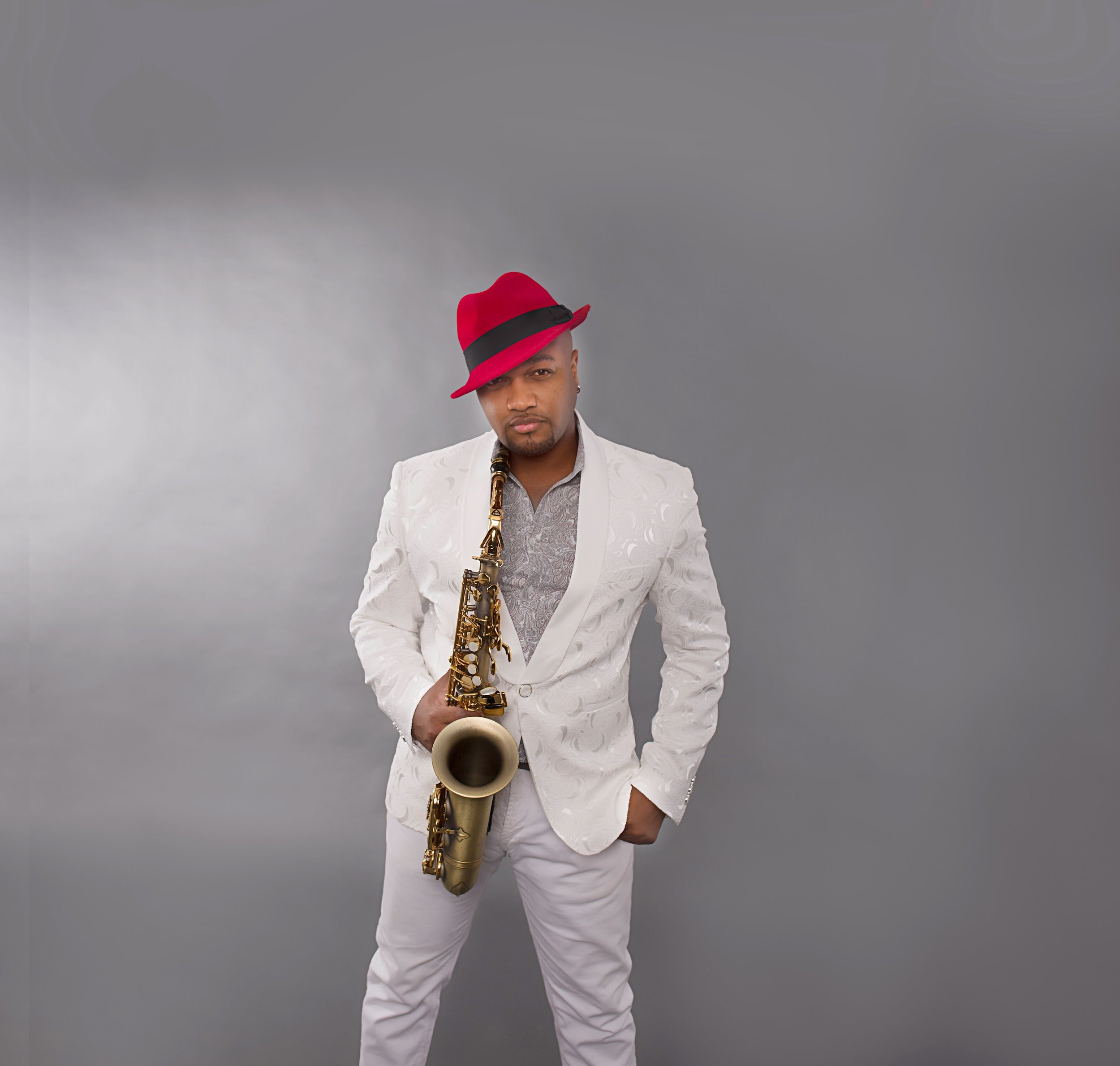 Saxophone player Marcus Anderson
