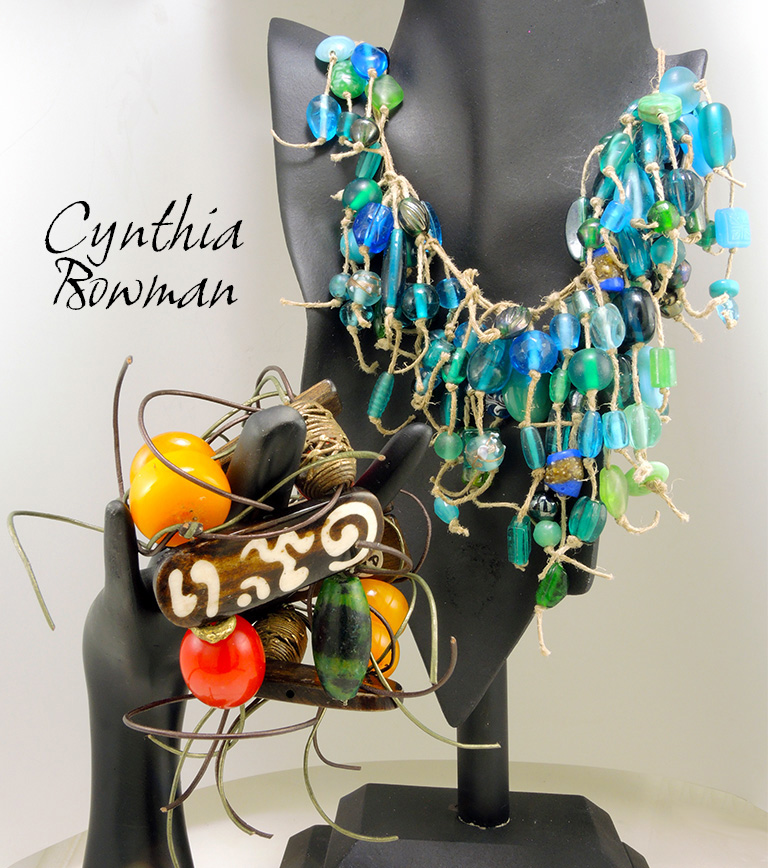 bracelets and necklace by jewelry designer Cynthia Bowman