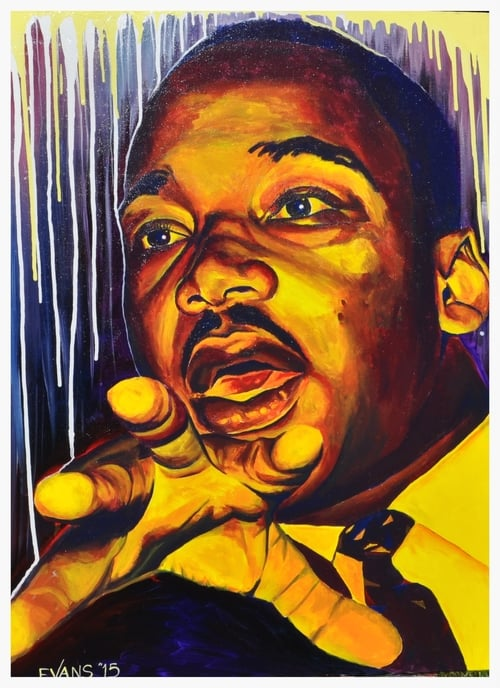 painting of Dr. Martin Luther King, Jr. by artist Chris Evans