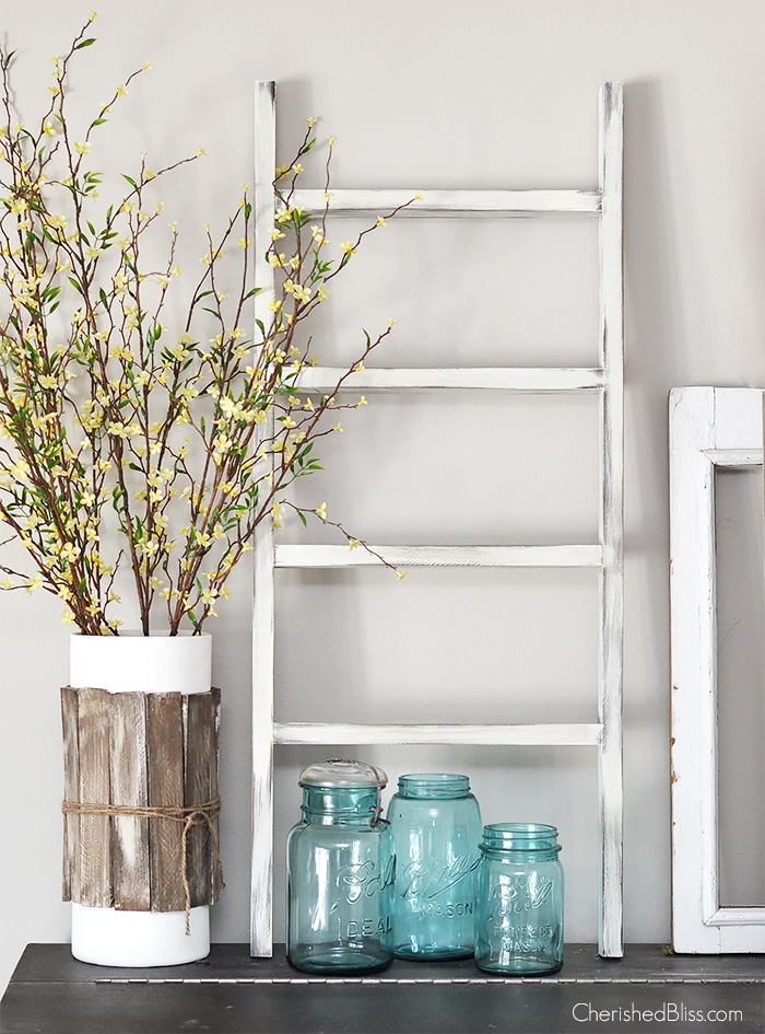 DIY mini wooden ladder | Cherished Bliss