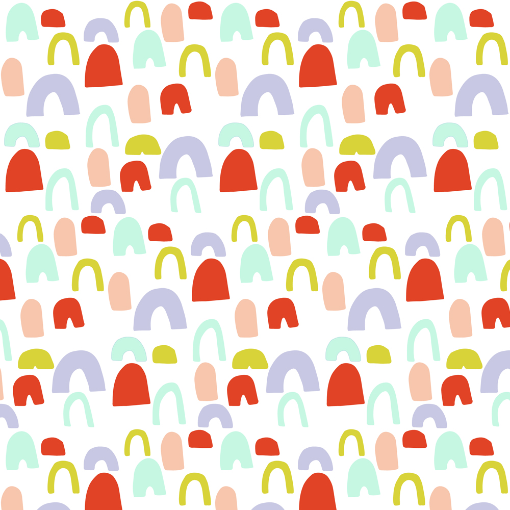 colorful bumps | surface design by Allie Tate
