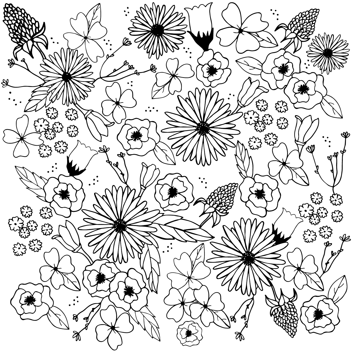 floral whimsy | surface design by Allie Tate