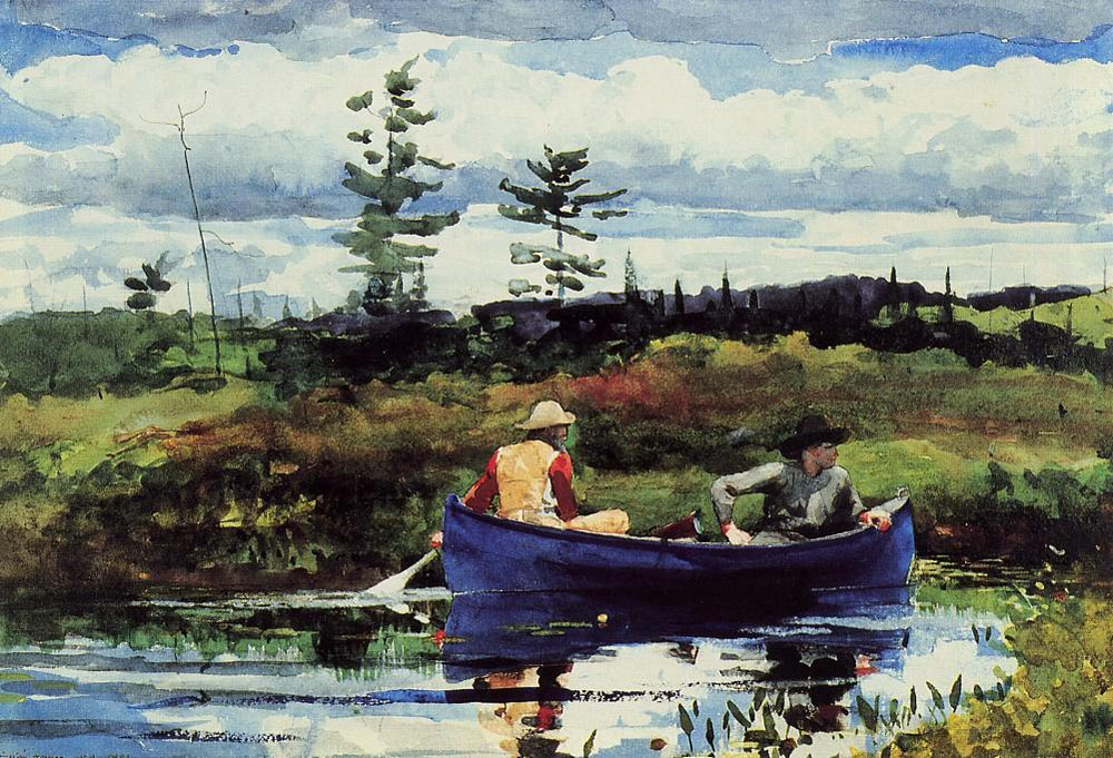 """""""The Blue Boat"""" 1892, Winslow Homer"""