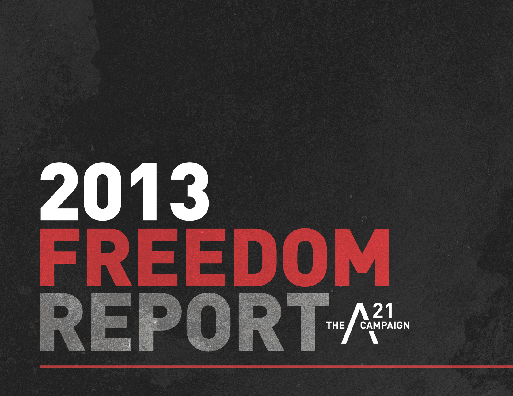 ANNUAL REPORT  FOR ANTI-HUMAN TRAFFICKING ORGANIZATION