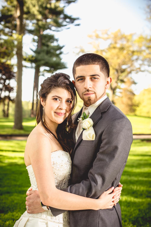 Maria & Alex on their wedding day.