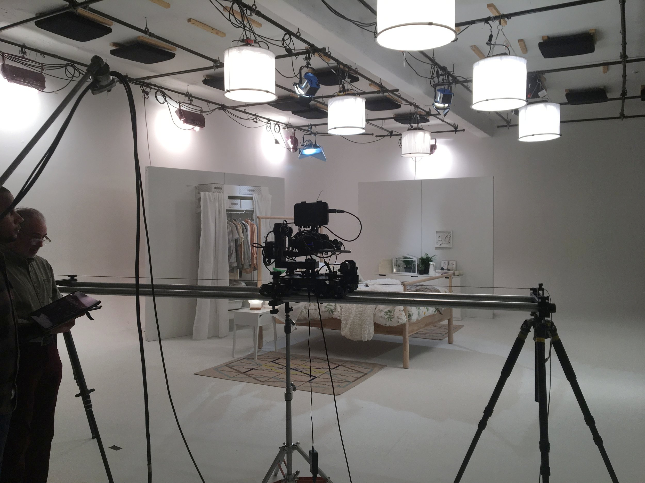 Time Inc using our film studio/soundstage to shoot a time lapse for IKEA furniture .