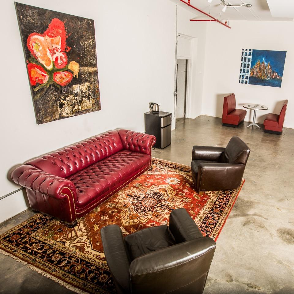 Client lounge at soundstage Studios 3 & 4.