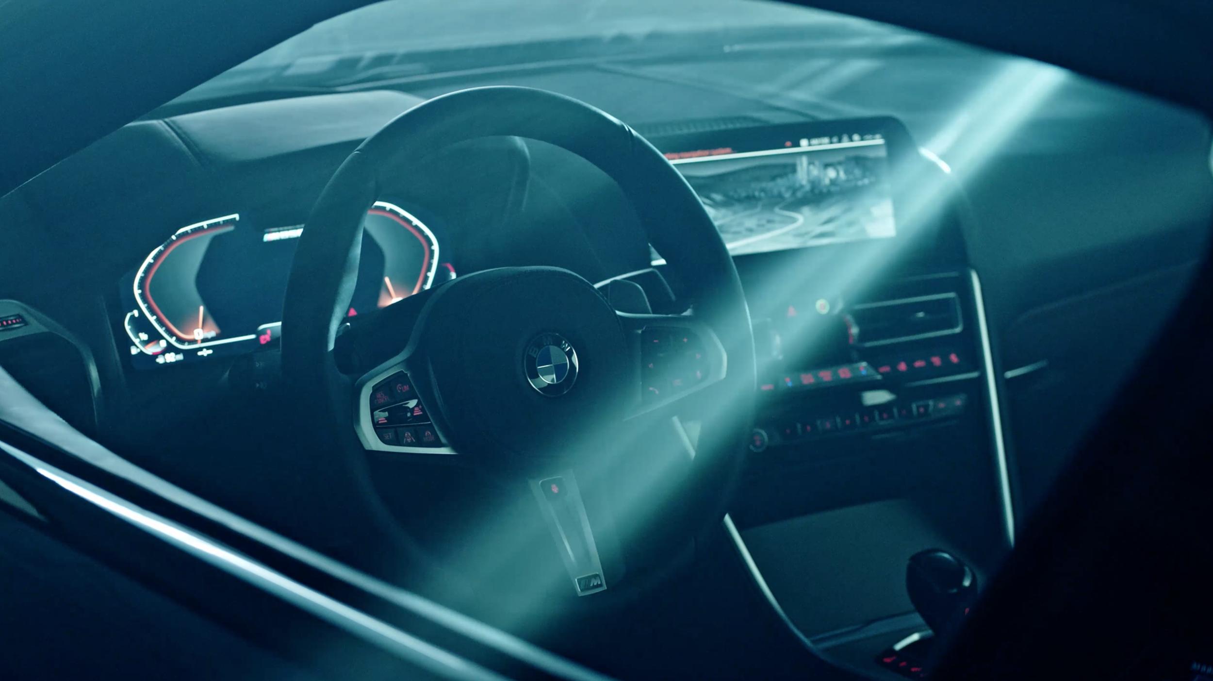 BMW 8 Series commercial shot in Studio 2.