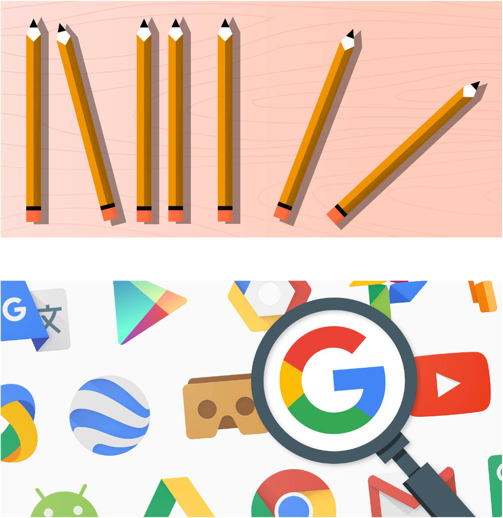 My custom illustrations appear at various stages throughout the job application process on Google Apply.
