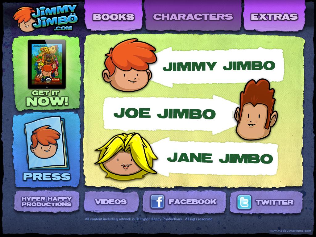 Big Zoo Fun Website - Character Selection