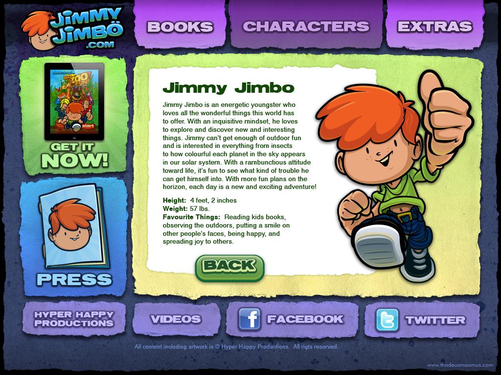 Big Zoo Fun Website - Jimmy Jimbo