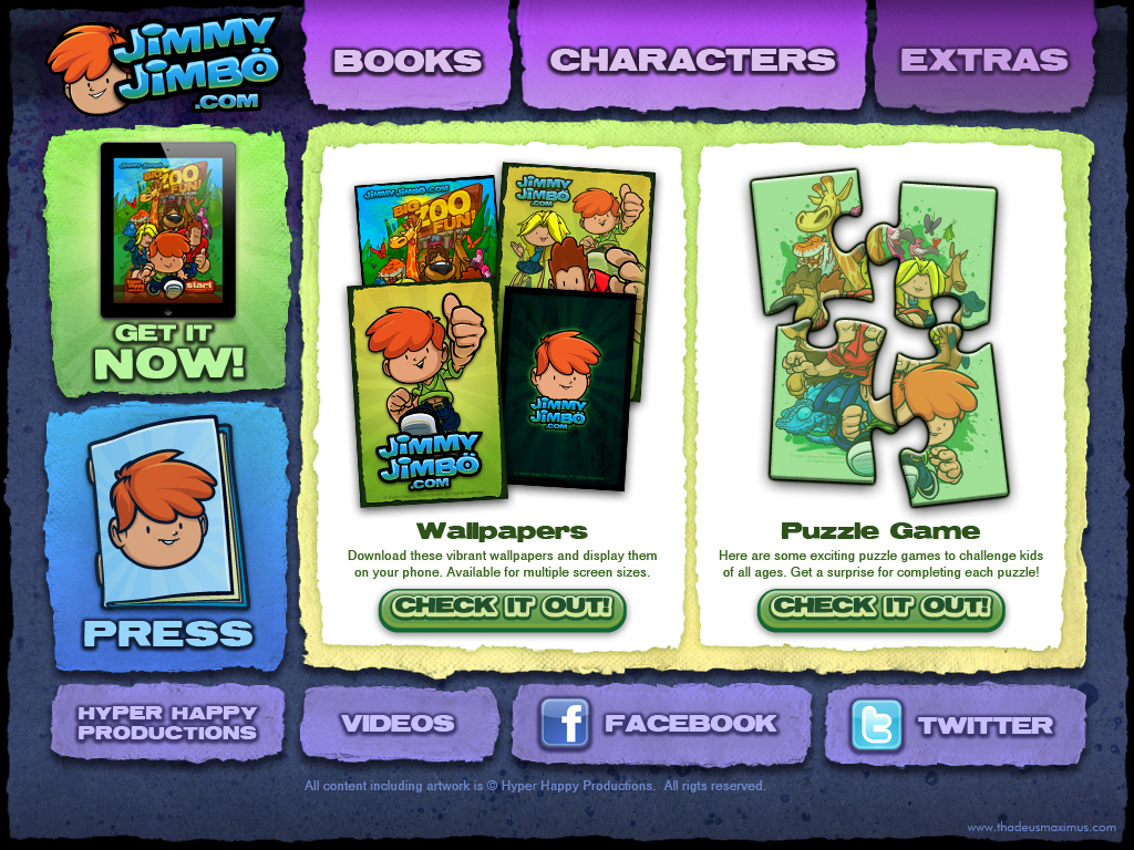 Big Zoo Fun Website - Extras