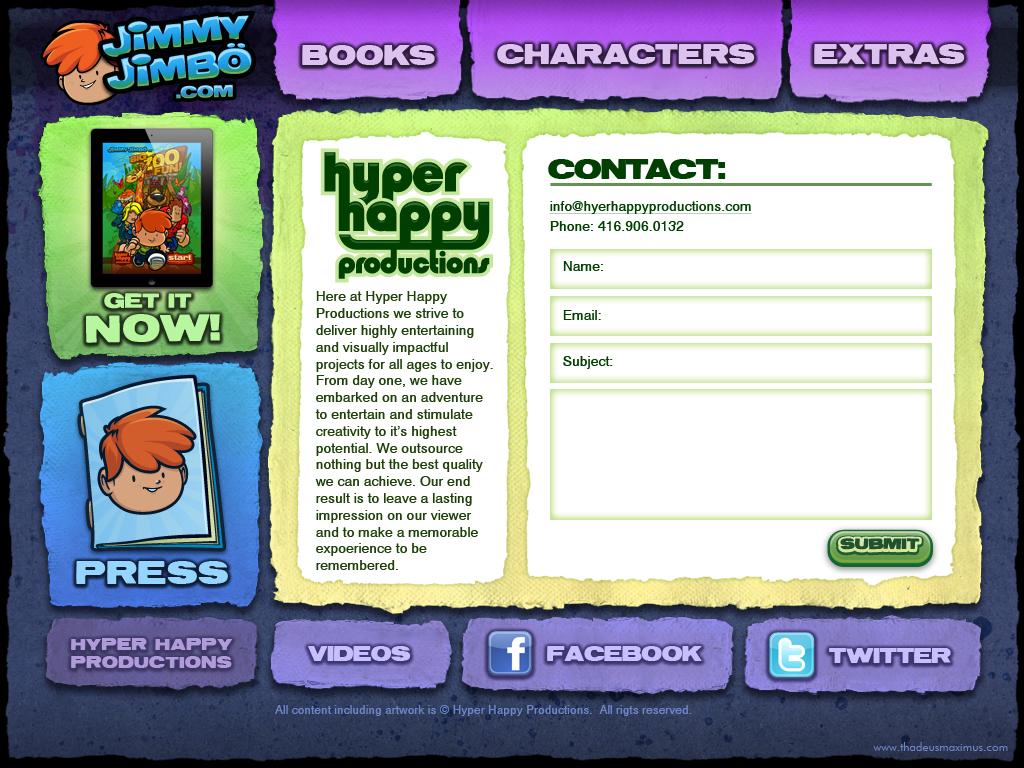 Big Zoo Fun Website - Contact