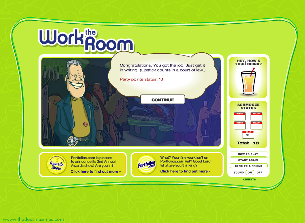Work The Room - Director Reward