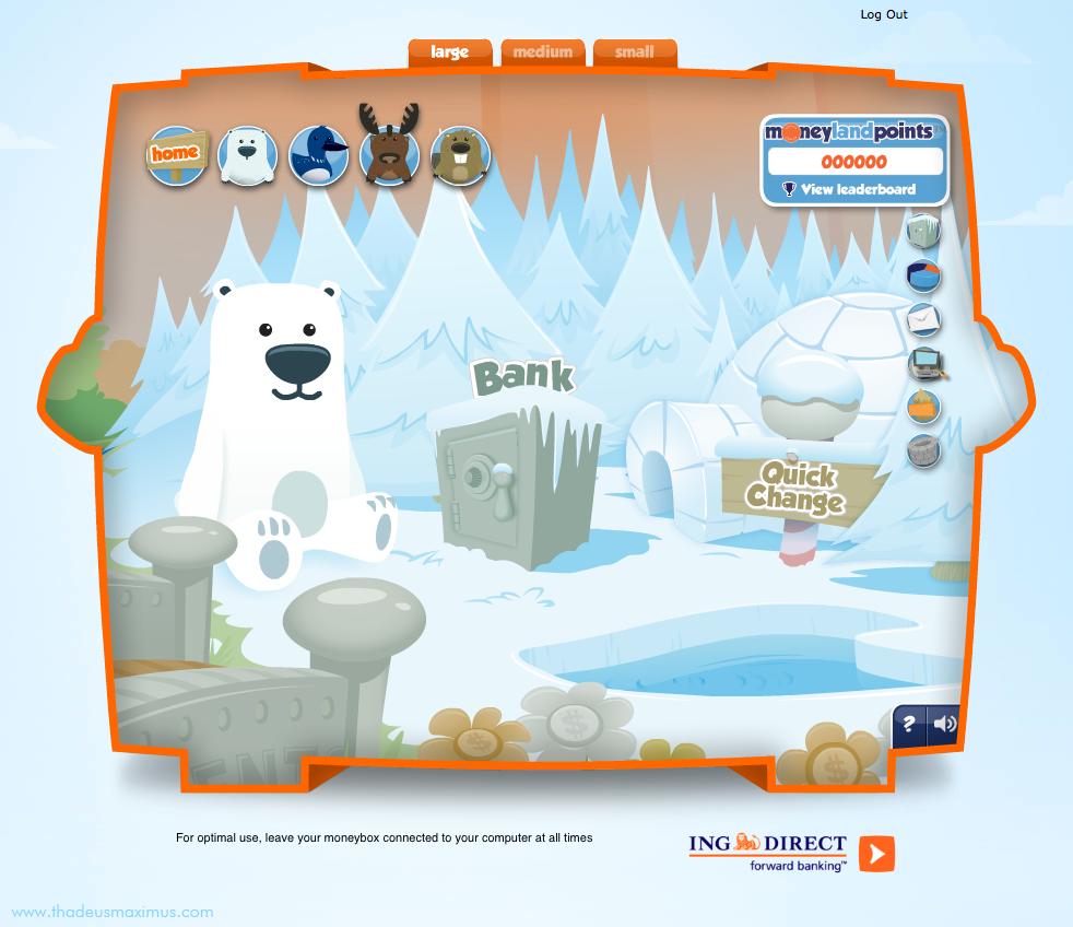 ING - Lil' Savers Money Bank - Polar Bear