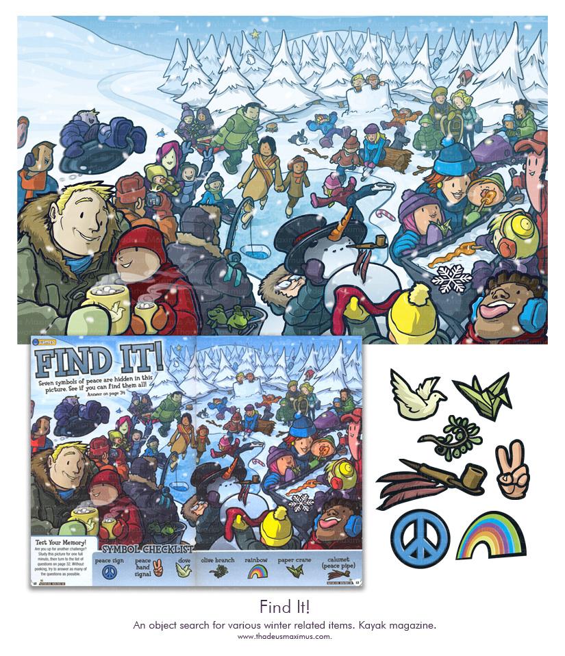 Kayak Magazine - Find It Winter Puzzle
