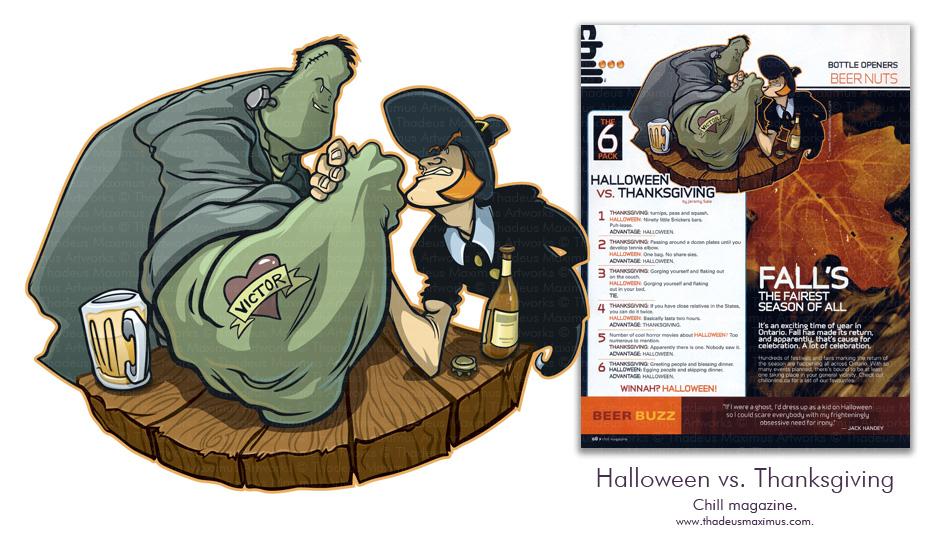 Chill Magazine - Halloween Vs. Thanksgiving
