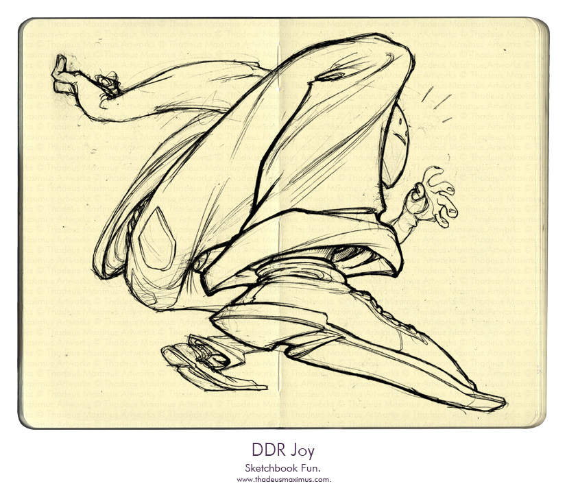 Thadeus Maximus Artworks - Sketch - DDR Joy
