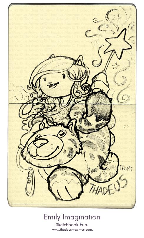 Thadeus Maximus Artworks - Sketch - Emily Imagination