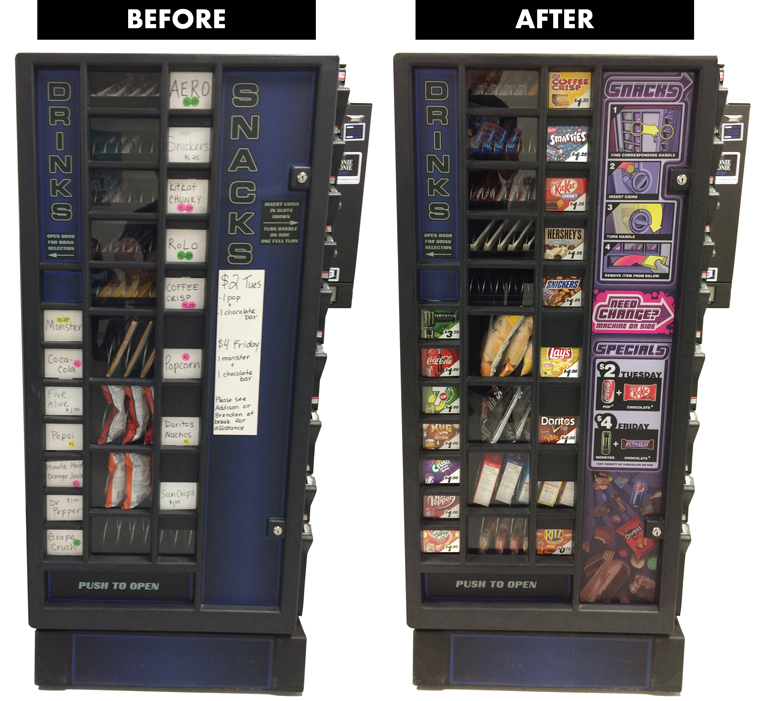 Vend Men Vending Machine - Before and After
