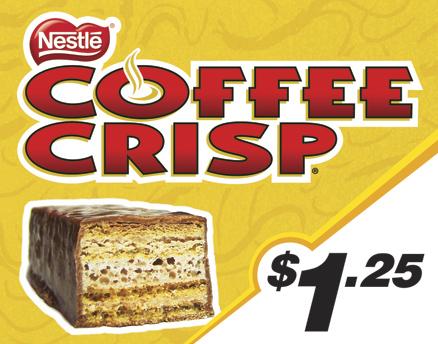 Vend Men Product Sample - Coffee Crisp