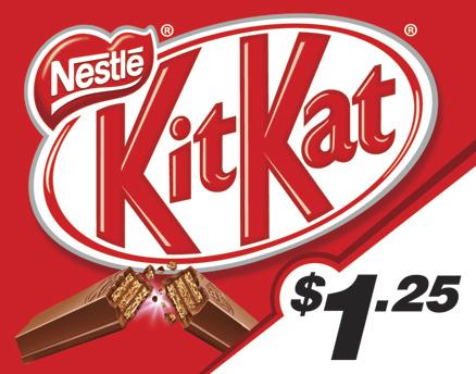 Vend Men Product Sample - Kit Kat