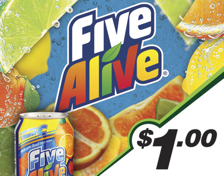 Vend Men Product Sample - Five Alive