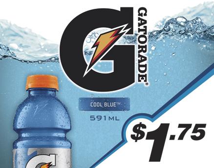 Vend Men Product Sample - Gatorade Cool Blue
