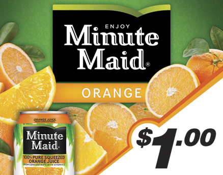 Vend Men Product Sample - Minute Maid Orange Juice