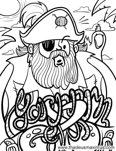 Yarn Crush Colouring Book - Pirate