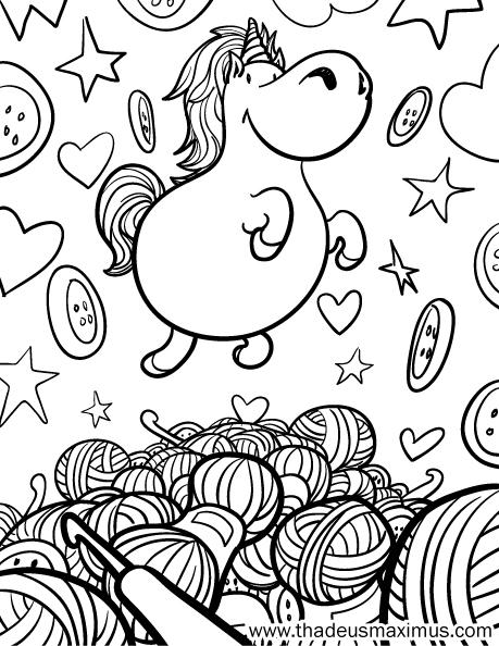 Yarn Crush Colouring Book - Unicorn
