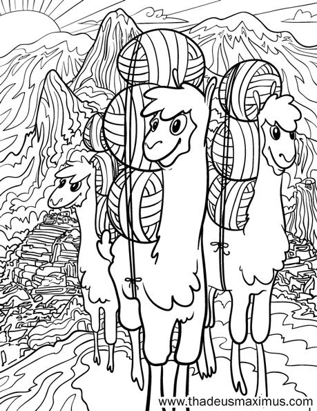 Yarn Crush Colouring Book - Alpaca