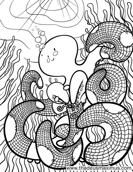 Yarn Crush Colouring Book - Octopus 2