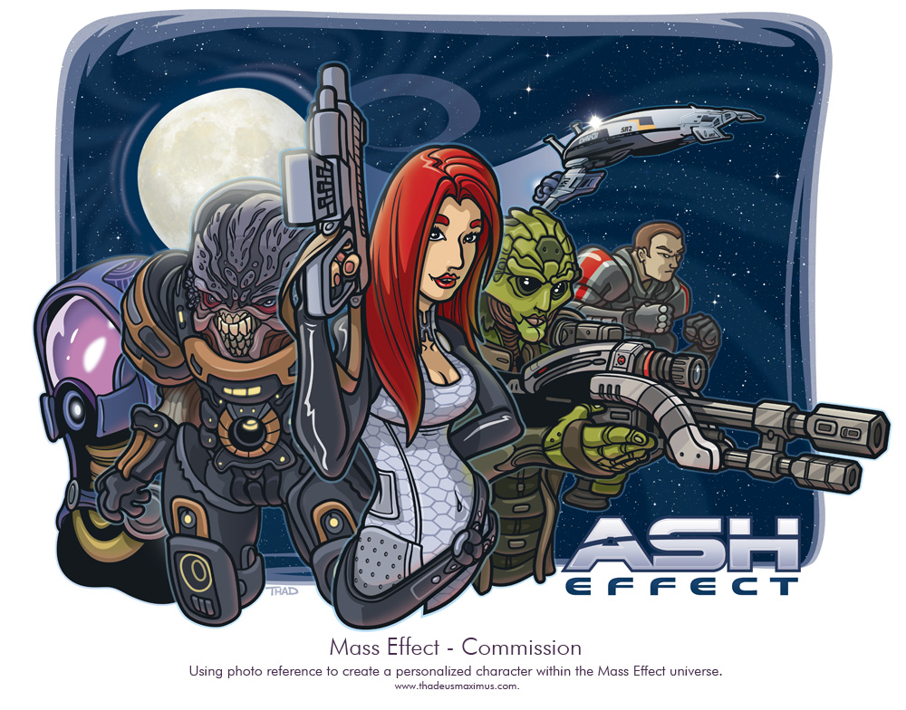 Thadeus Maximus Artworks - Mass Effect Commission