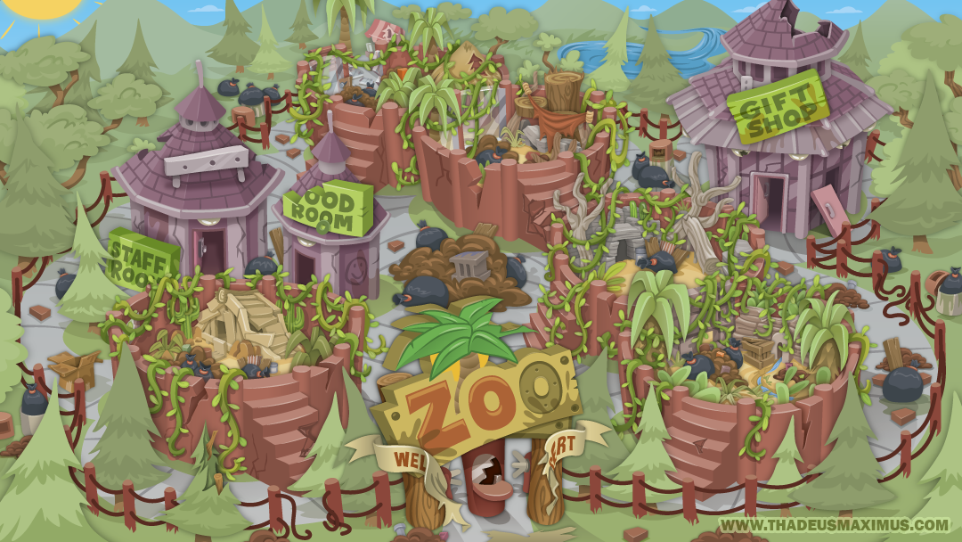Zoo Clean Up: Map - Sans Nav